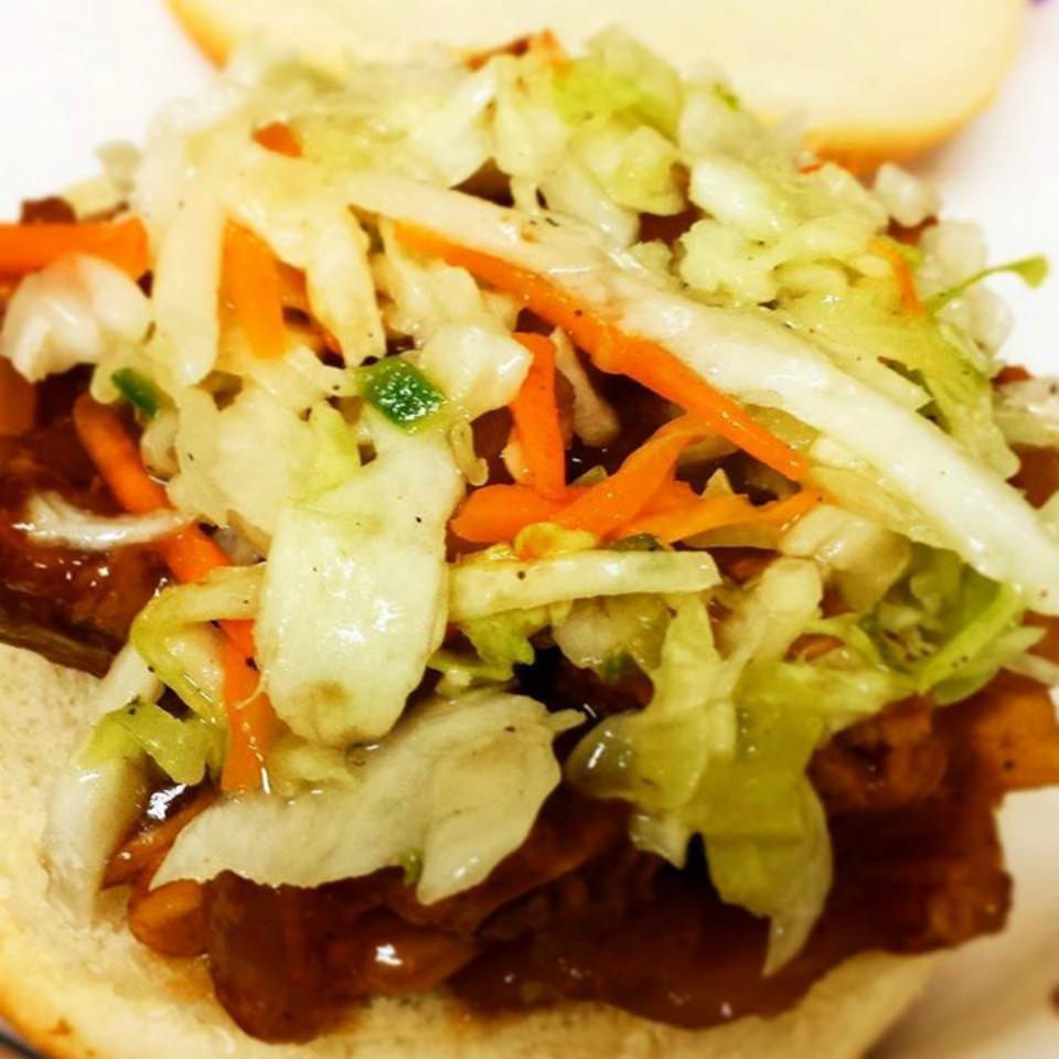Slow Cooker BBQ Pulled Pork Sandwiches Courtney Servantes