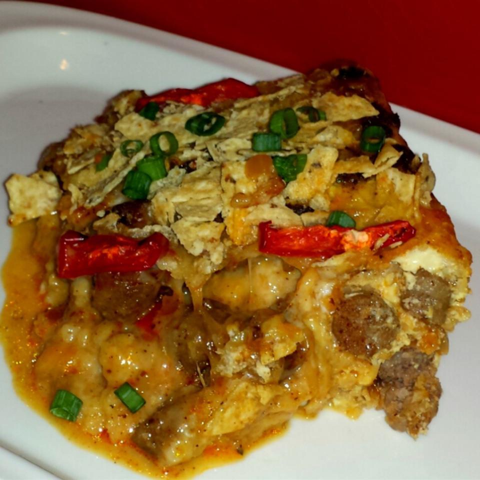 Mexican Tortilla Breakfast Casserole