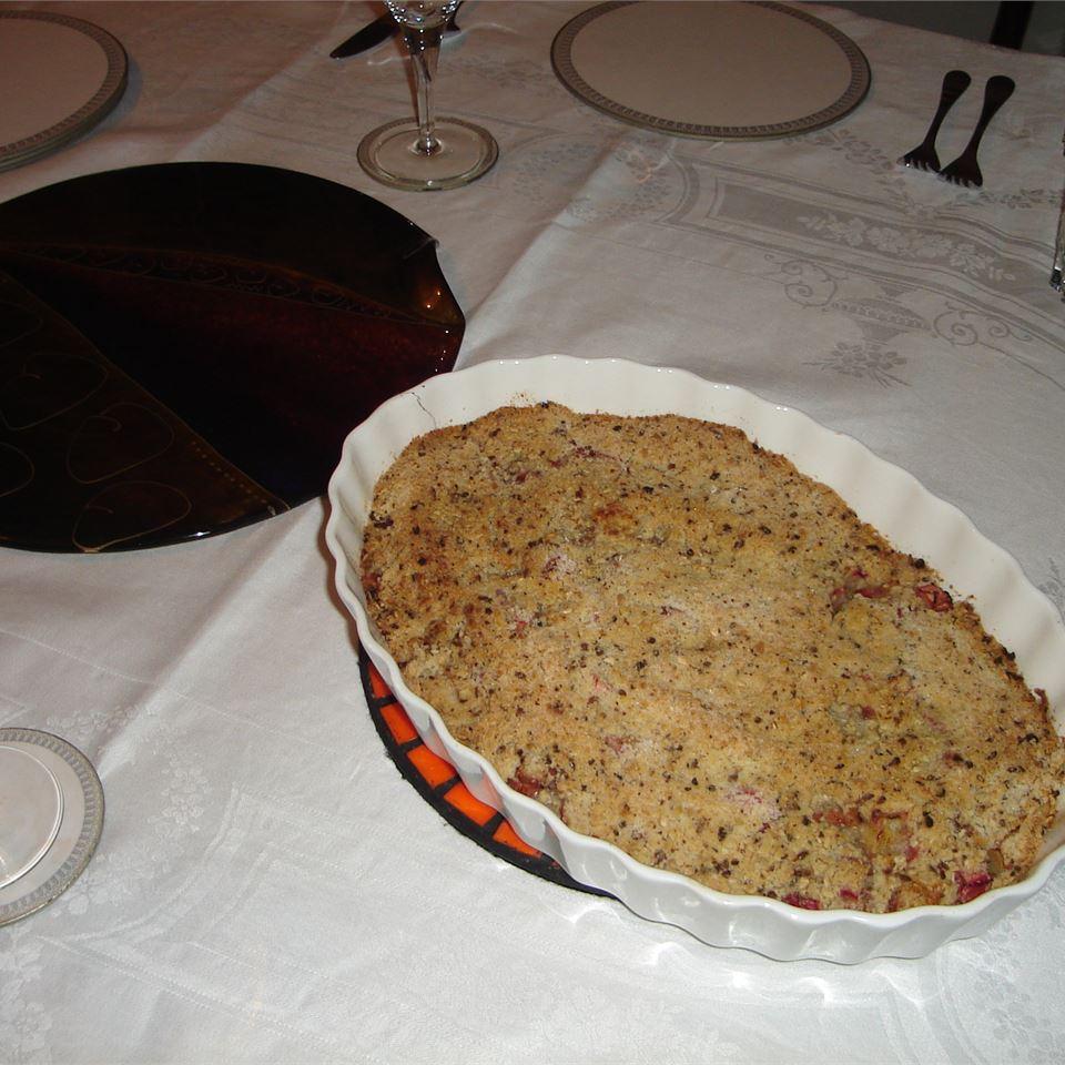 Rhubarb Crumble Pie Jacob