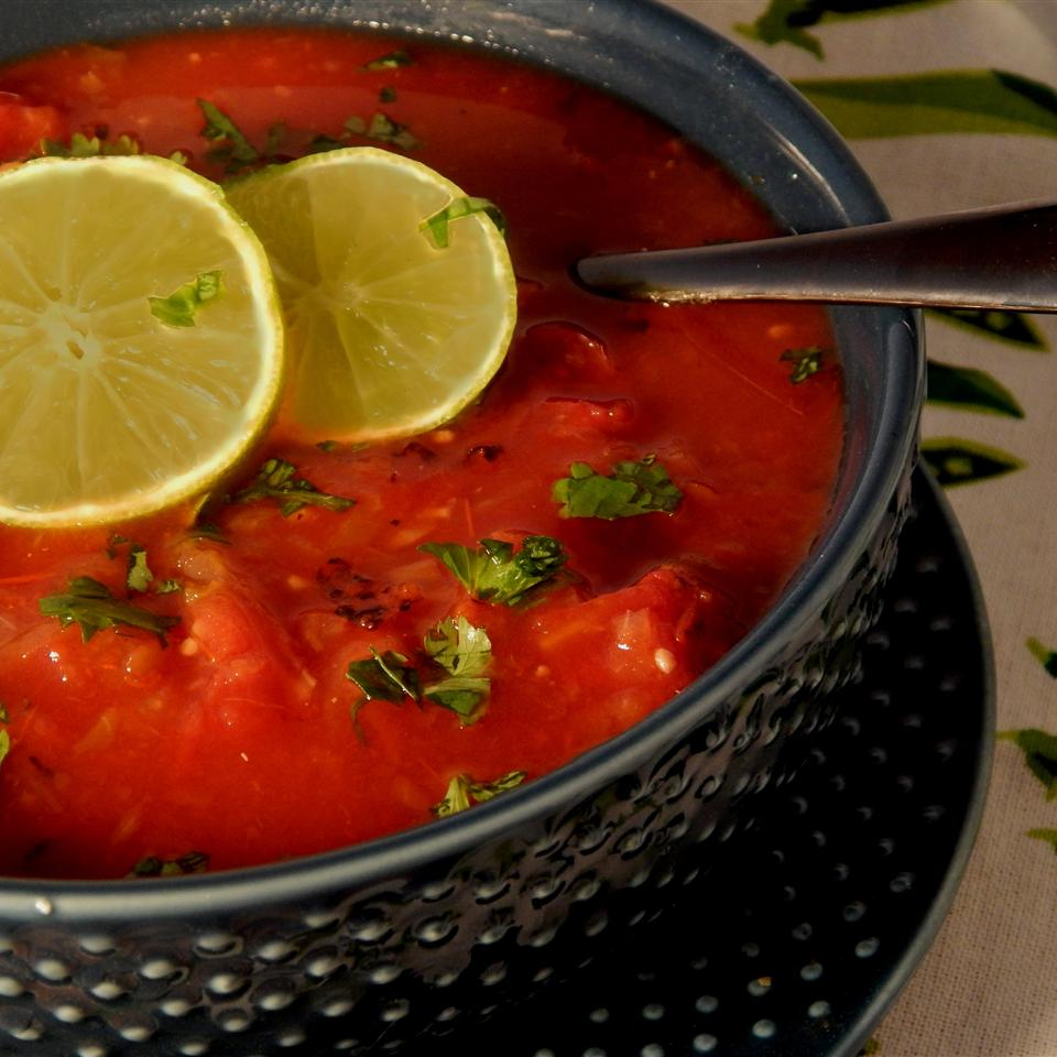 Spicy Tequila-Lime Tomato Soup