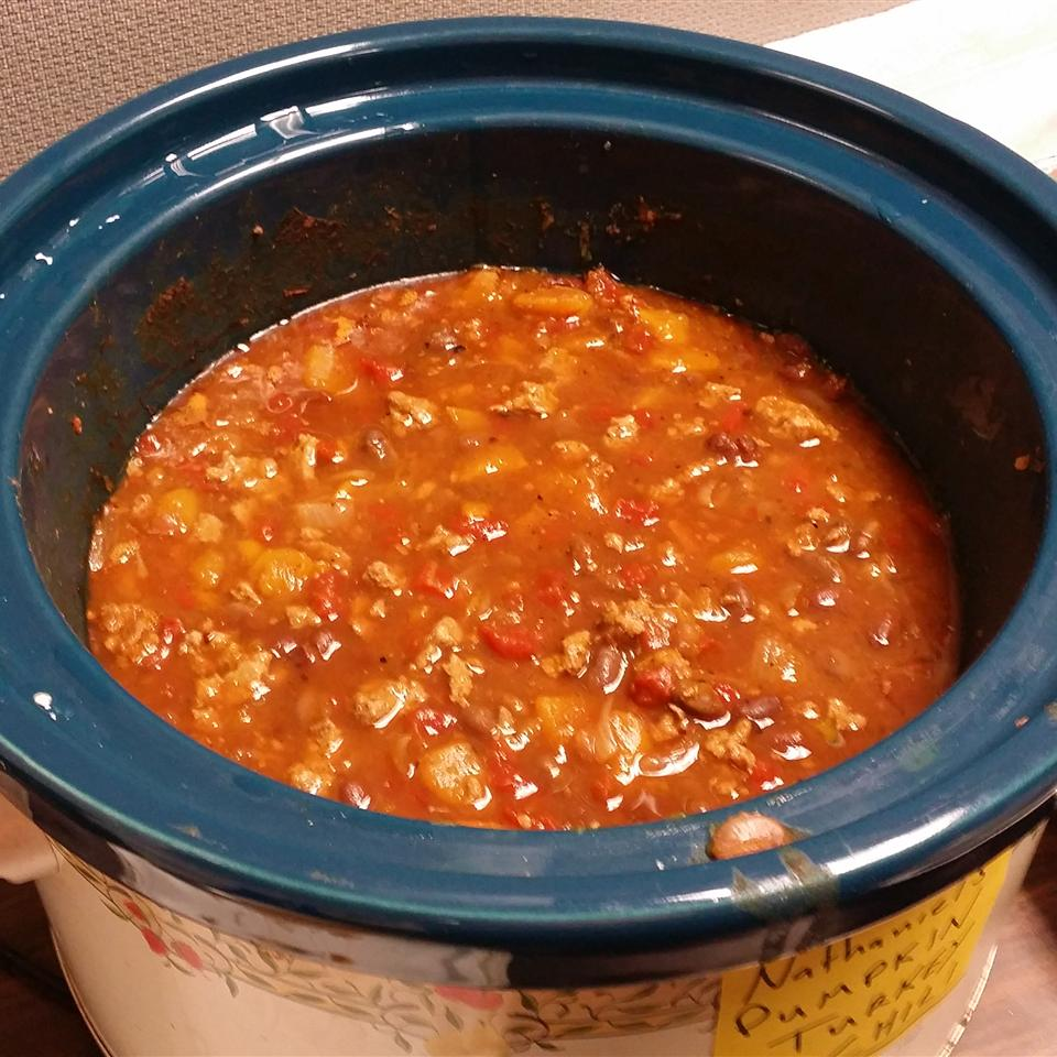 Slow Cooker Pumpkin Turkey Chili Nathaniel Hudson