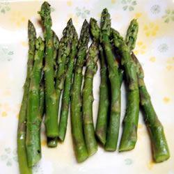 Simply Steamed Asparagus rocks
