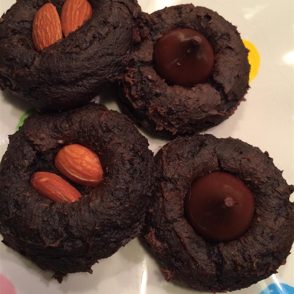 Easiest Chocolate Blossom Cookies jmacsaunders