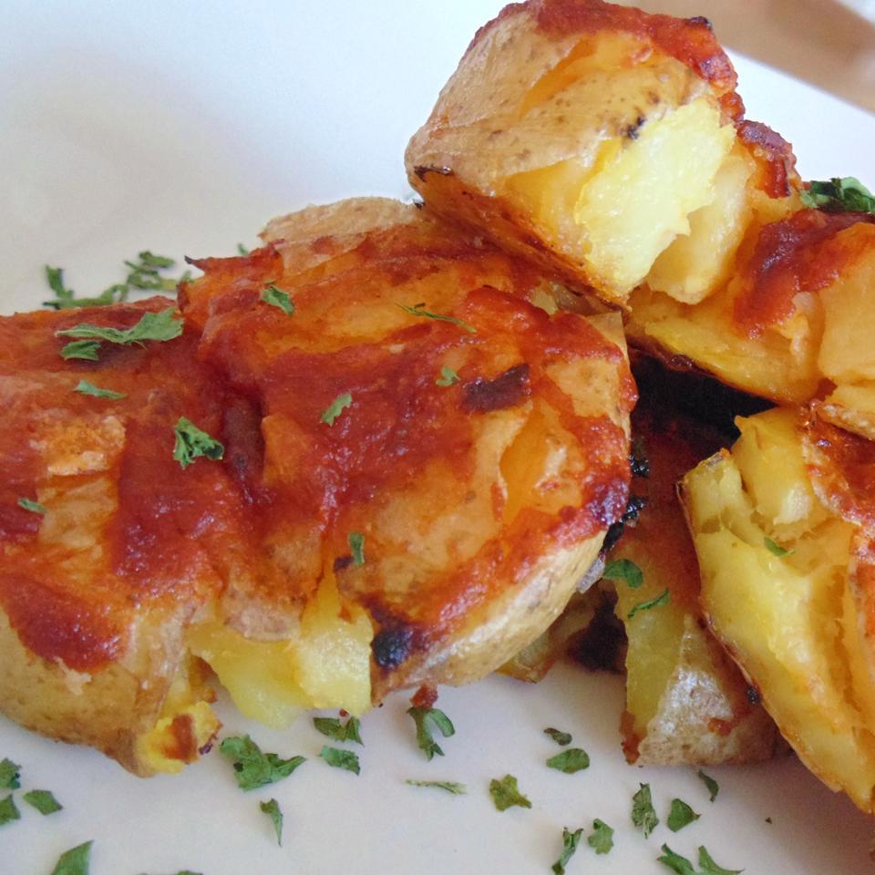 Crispy Chipotle Roasted Smashed Potatoes