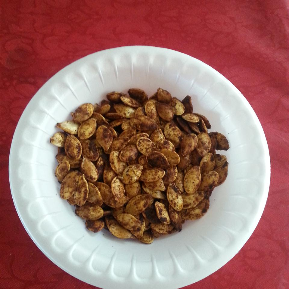 Cajun Spiced Roasted Pumpkin Seeds