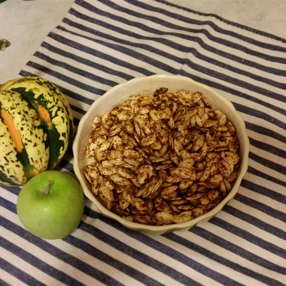 Toasted Pumpkin Seeds with Sugar and Spice Michelle Waltenburg