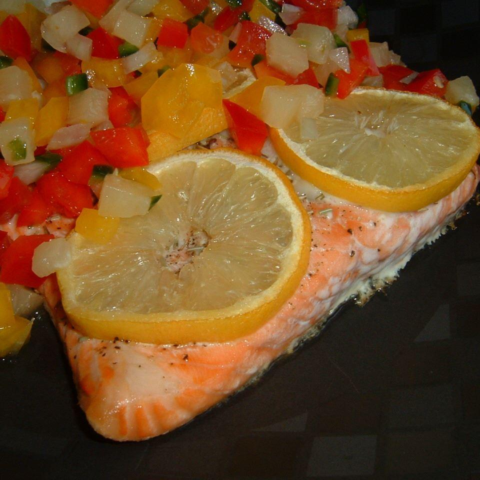Salmon with Fruit Salsa Caroline C