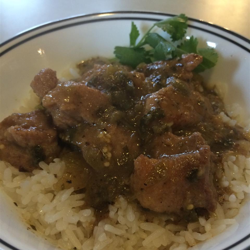 Pork Stew in Green Salsa (Guisado de Puerco con Tomatillos) Reza Niamat