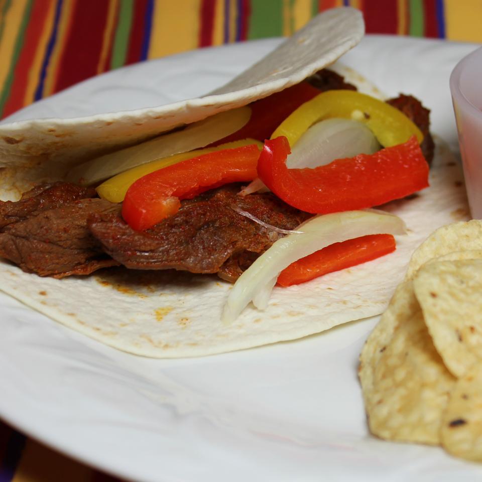 Easy Flank Steak Fajitas Paula