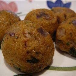 Mini Pumpkin Sage Balls with Balsamic Creme Fraiche sxdil