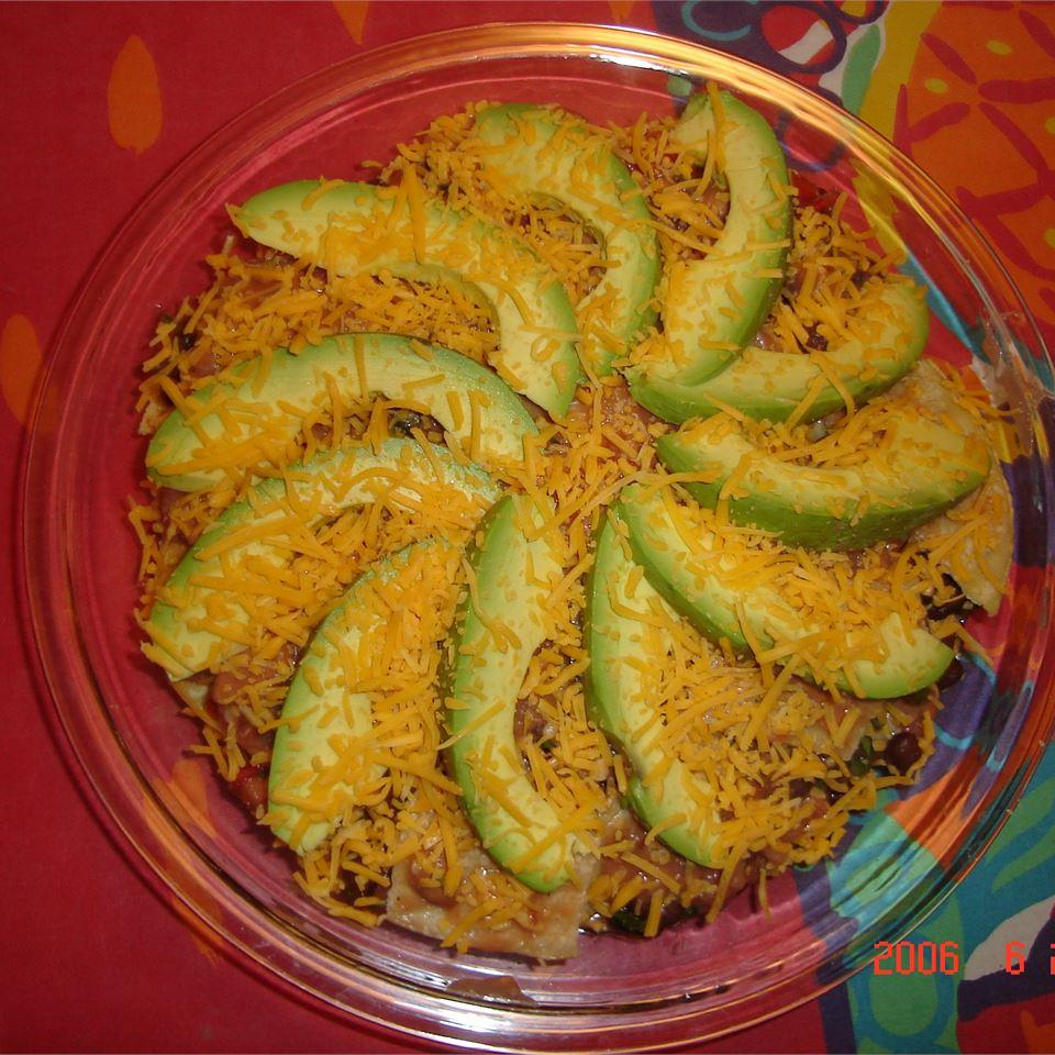 Seven Layer Tortilla Pie
