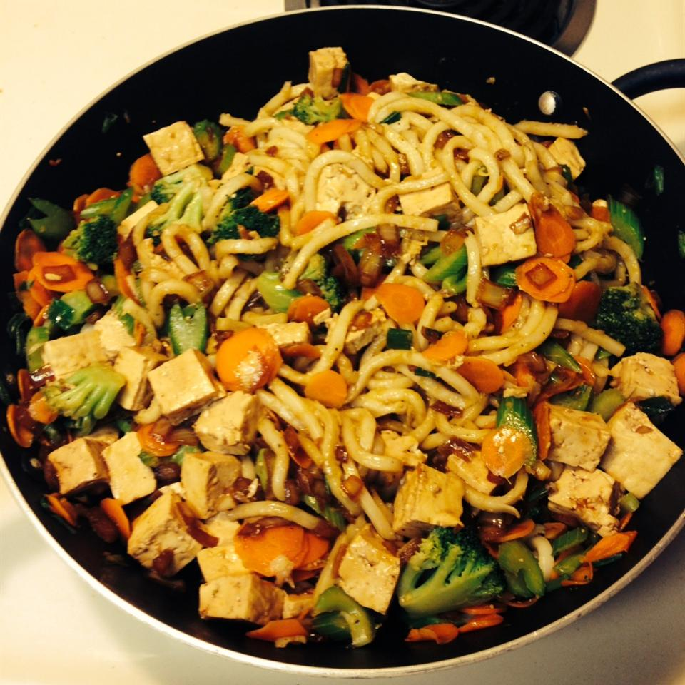 Sesame Asian Tofu Stir-Fry