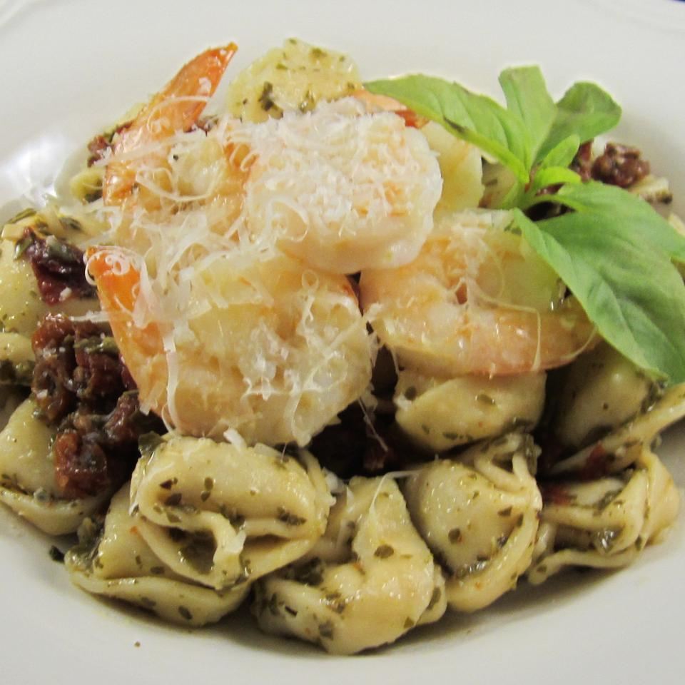 Garlic Shrimp with Three Cheese Tortellini Deb C