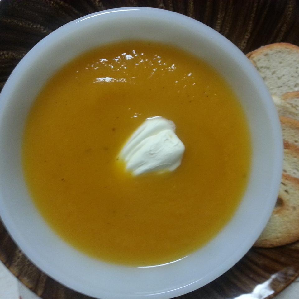 Not-Too-Sweet Sweet Potato Soup
