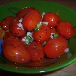 Sauteed Cherry Tomatoes with Garlic and Basil Cooking Kitty