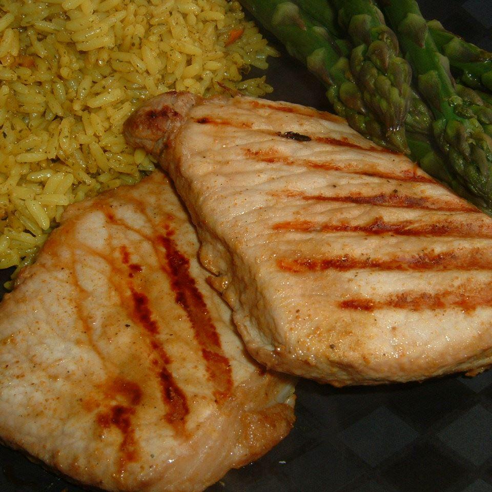 Grilled 'Fusion' Pork Chops Caroline C
