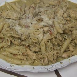 Phenomenal Chicken and Pasta in Creamy Pesto Sauce Karen Dean Covington