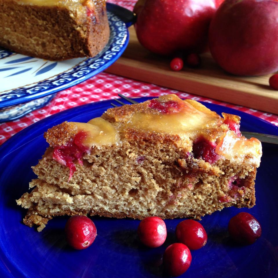 Upside-Down Double Apple Coffee Cake Happyschmoopies