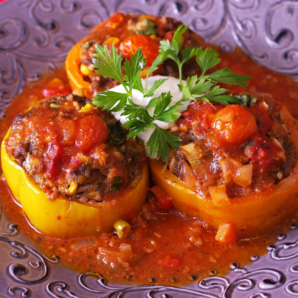 Stuffed Bell Pepper Rings