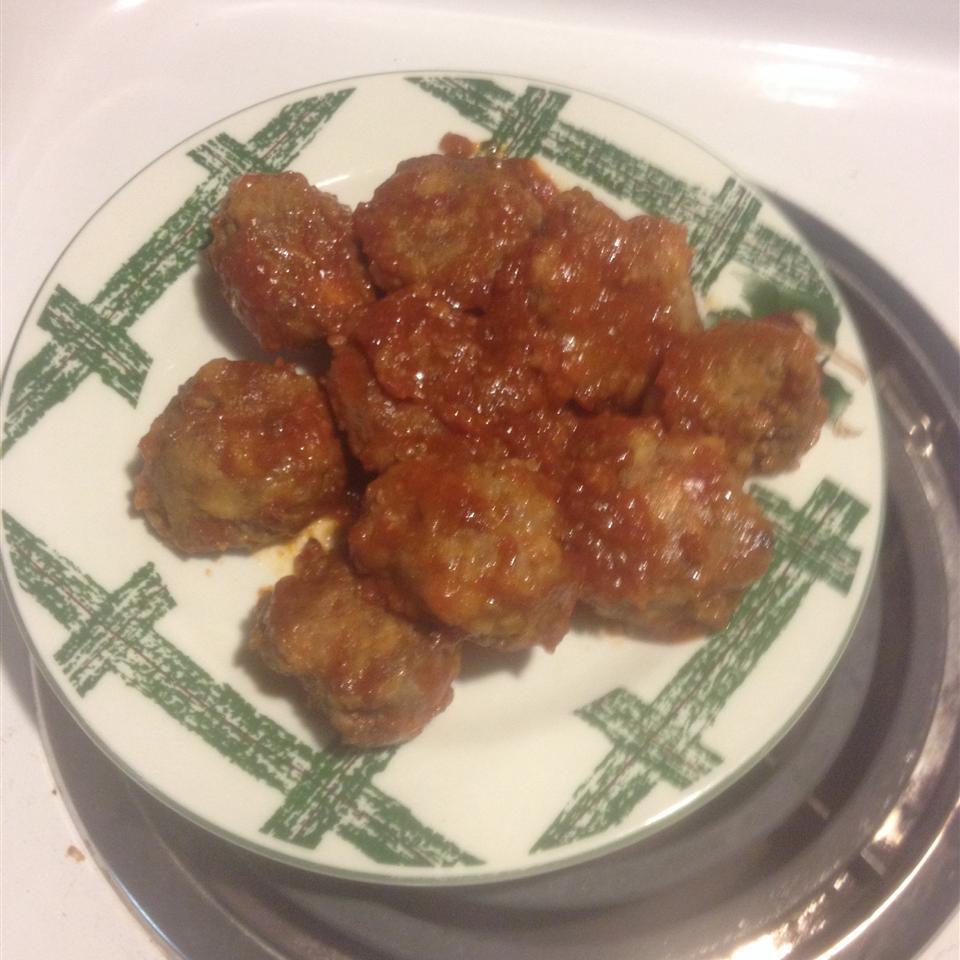 Baked BBQ Meatballs beaglelover4life