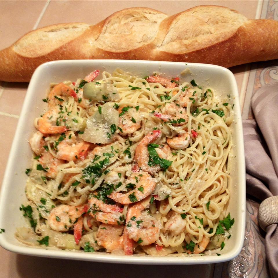 Shrimp and Artichoke Linguine Jerry G