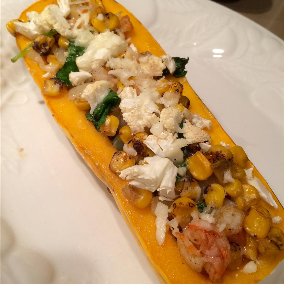Shrimp Stuffed Delicata Squash