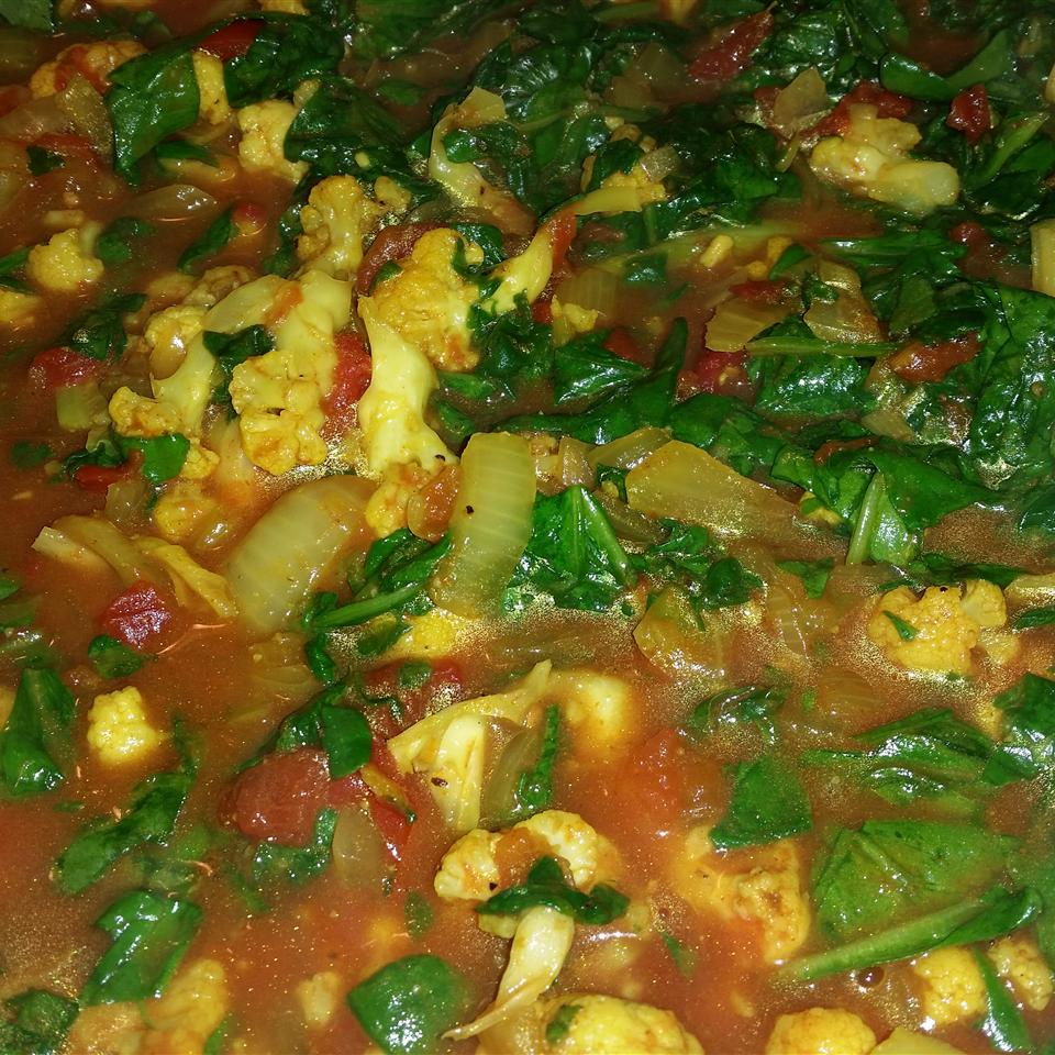 Spinach and Cauliflower Bhaji Cecilia