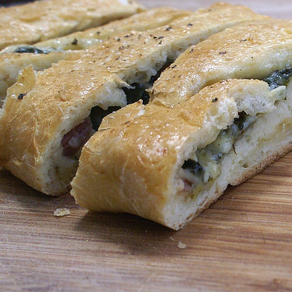 Homemade Spinach Pizza Rolls