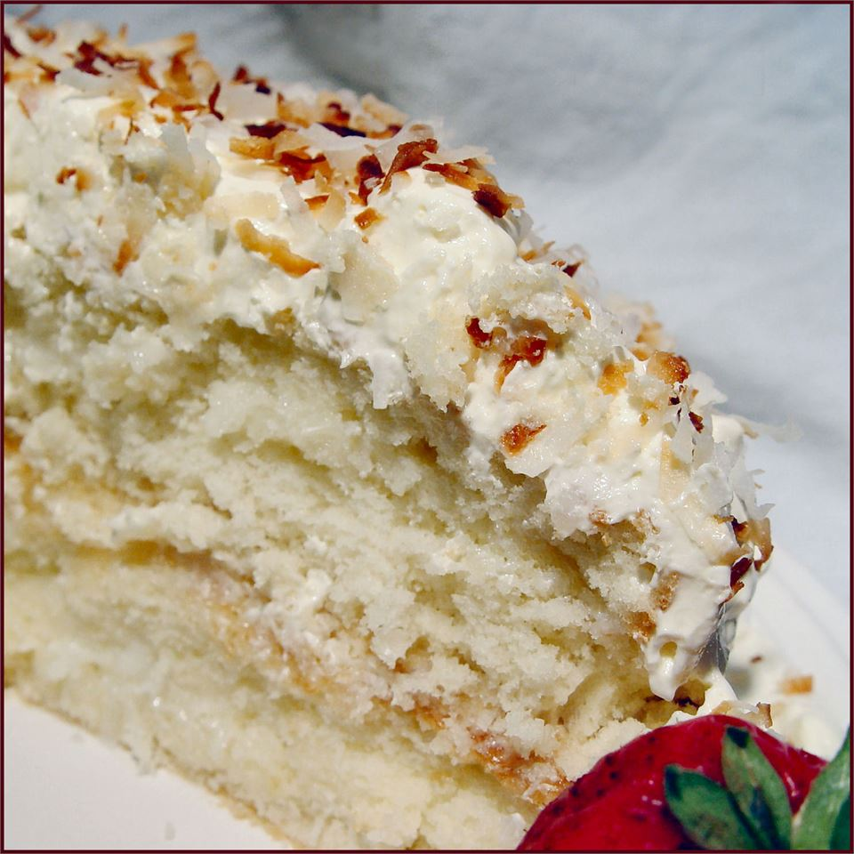 Coconut Sour Cream Cake Rori