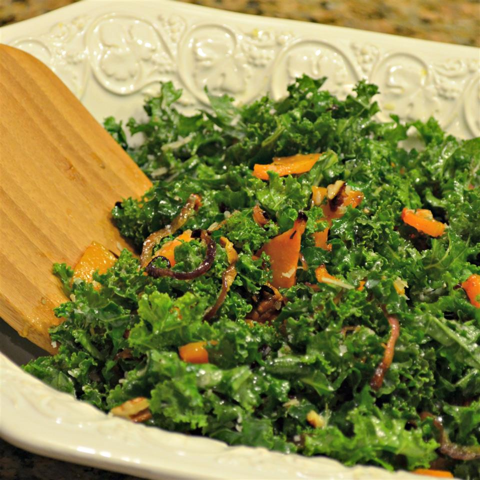 Autumn Butternut and Kale Salad with Maple Vinaigrette Kim's Cooking Now