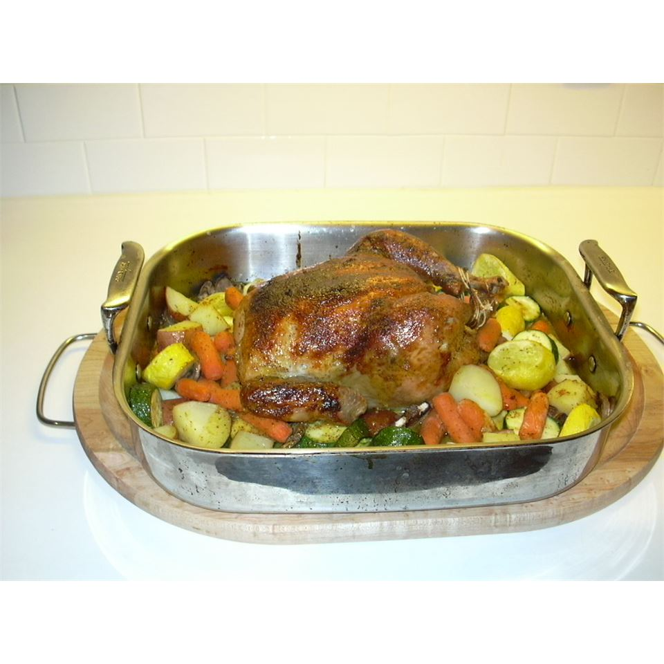 Honey Curried Roasted Chicken and Vegetables