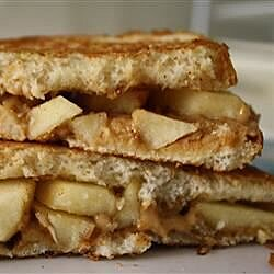grilled peanut butter apple sandwiches recipe