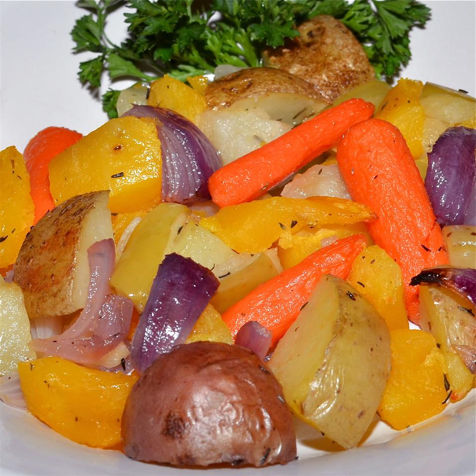 Napa Style Roasted Vegetables with Diamond Crystal® Sea Salt Lela