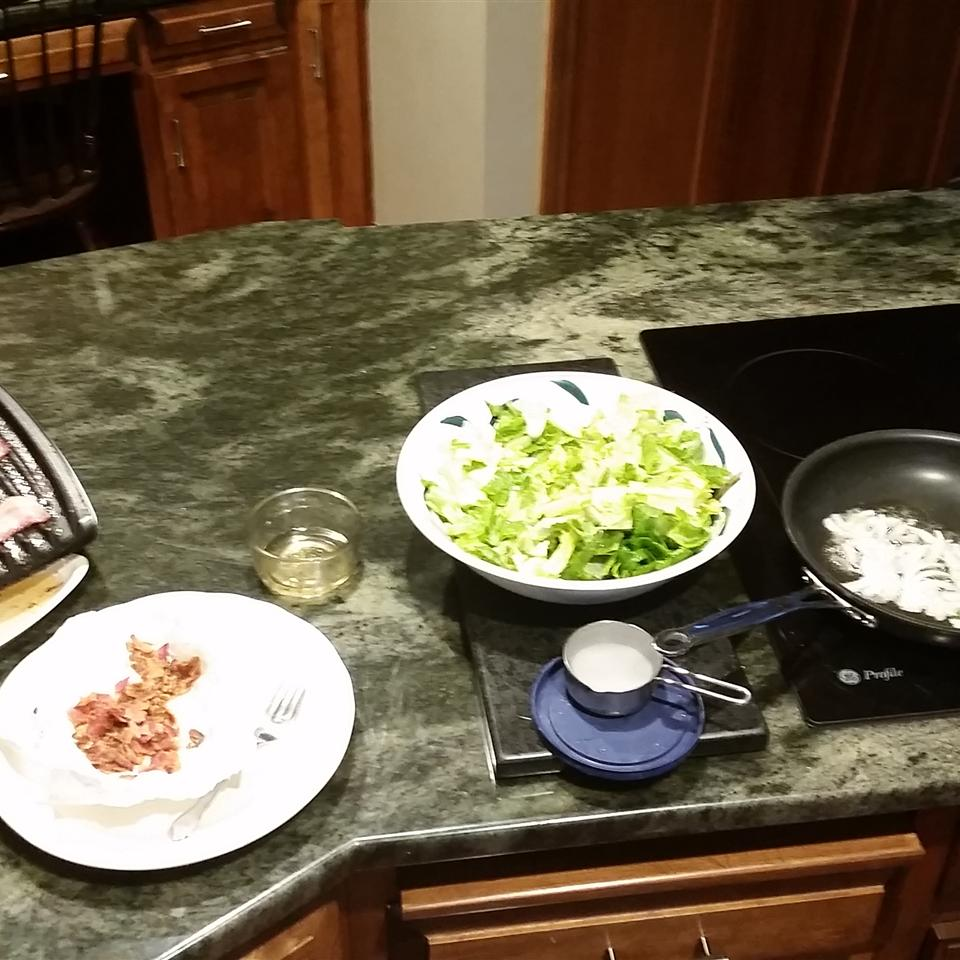 Lettuce with Hot Bacon Dressing CL Day