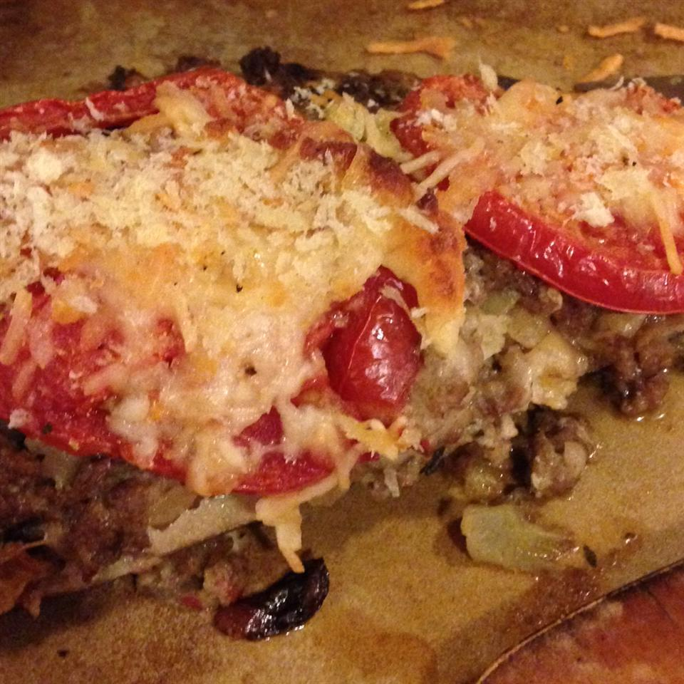 Mama Chiarello's Stuffed Eggplant