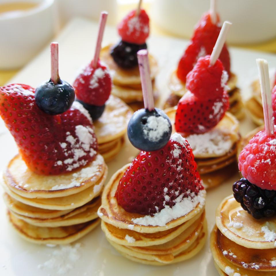 Mini Very Berry Pancake Skewers