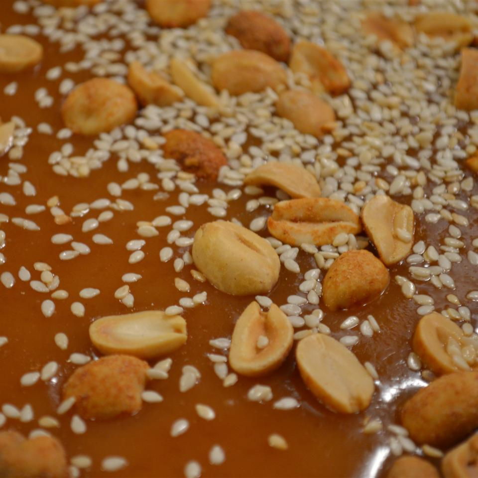 Salted Caramel Nut Brittle