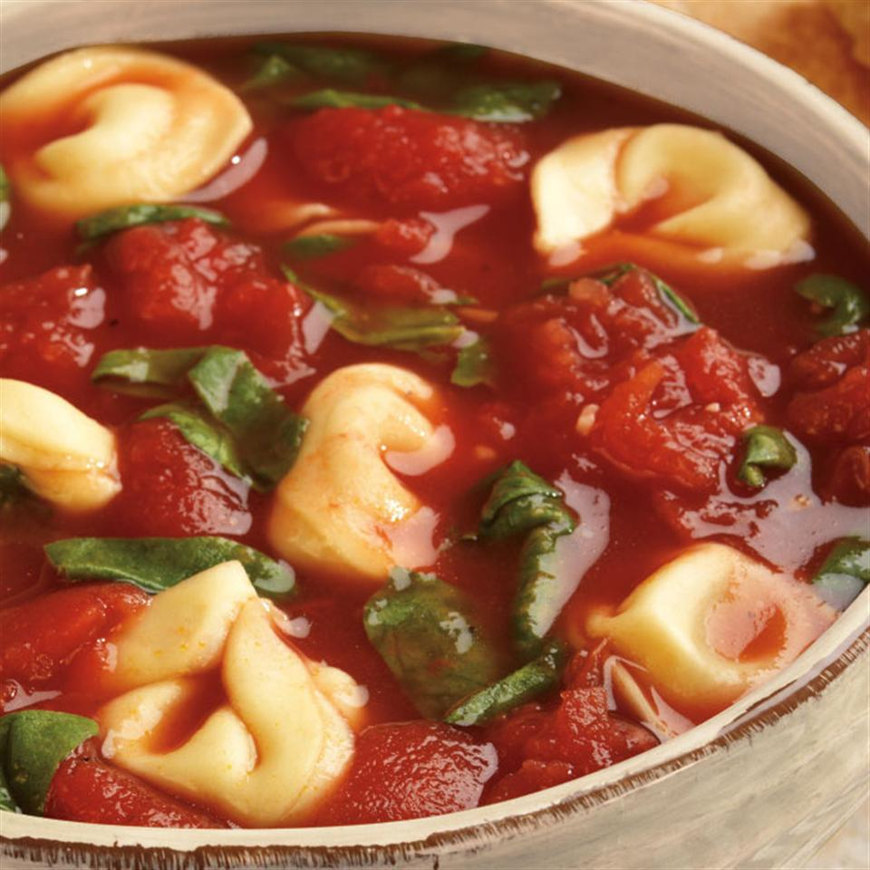 Tomato Soup with Spinach and Tortellini Trusted Brands