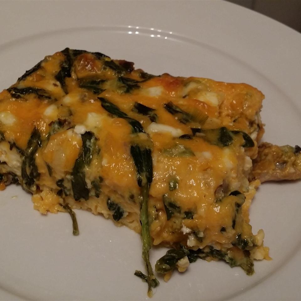 Crustless Spinach and Mushroom Quiche MoMosGoGo