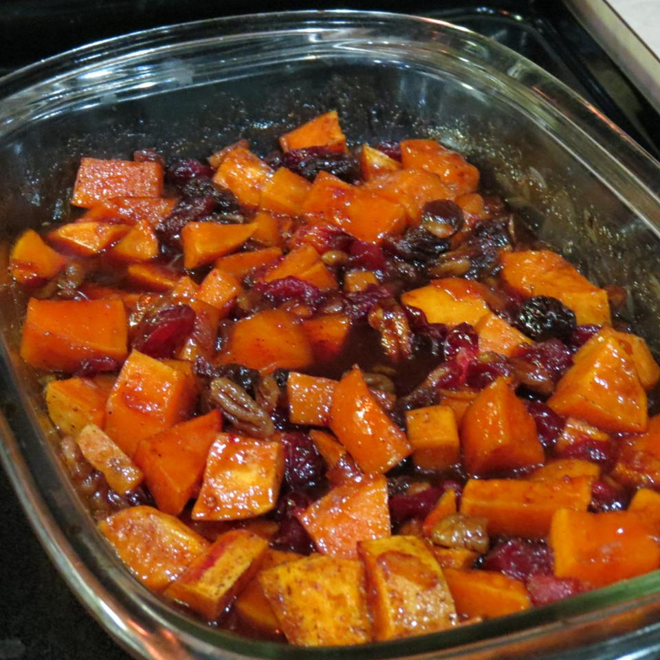 Spiced Sweet Potatoes and Cranberries Qhhunters