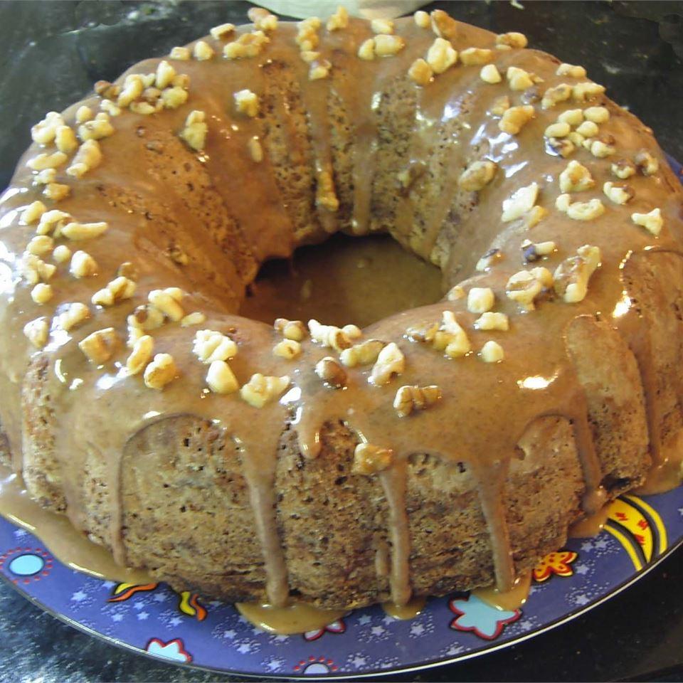 Apple Walnut Cake with Lemon Glaze