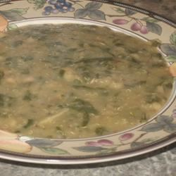 White Bean Soup with Quinoa, Spinach, and Shiitakes Chef4Six