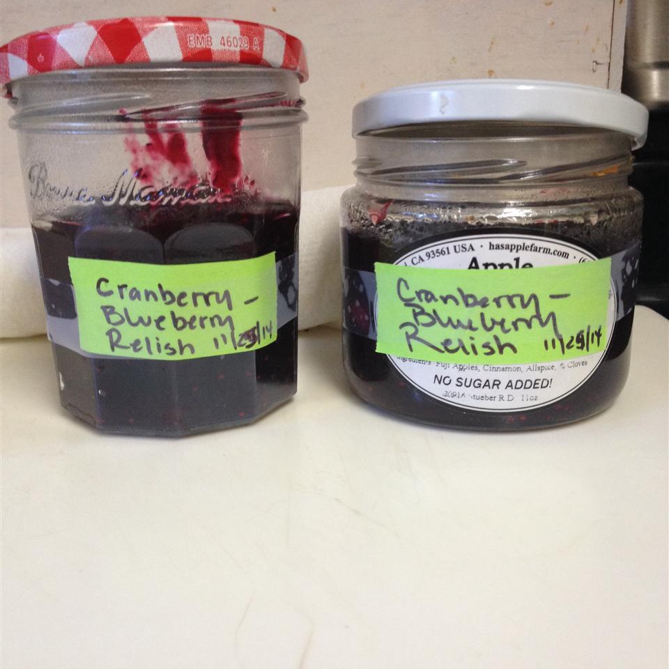 Festive Fresh Blueberry and Cranberry Relish c