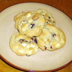 White Chocolate and Cranberry Cookies Samantha Peters Clough