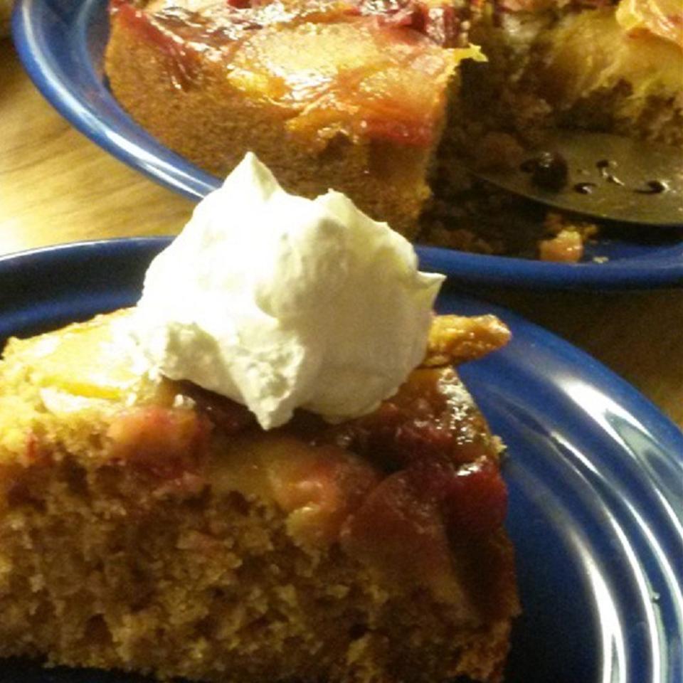 Upside-Down Double Apple Coffee Cake