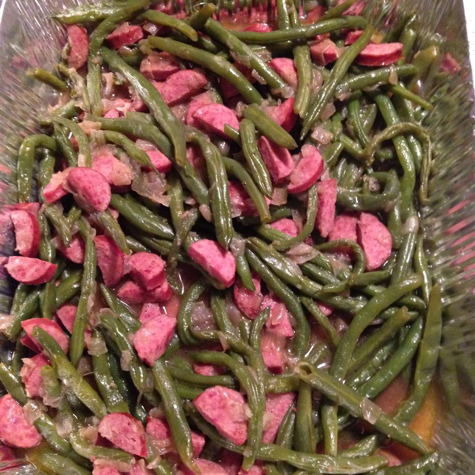 Amy's Po' Man Green Beans and Sausage Dish StarryLitez