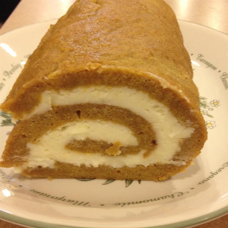 Pumpkin Roll with Cream Cheese Frosting