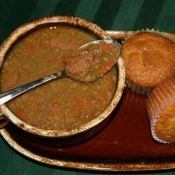 Split Pea and Sausage Soup ADDIEDUNN