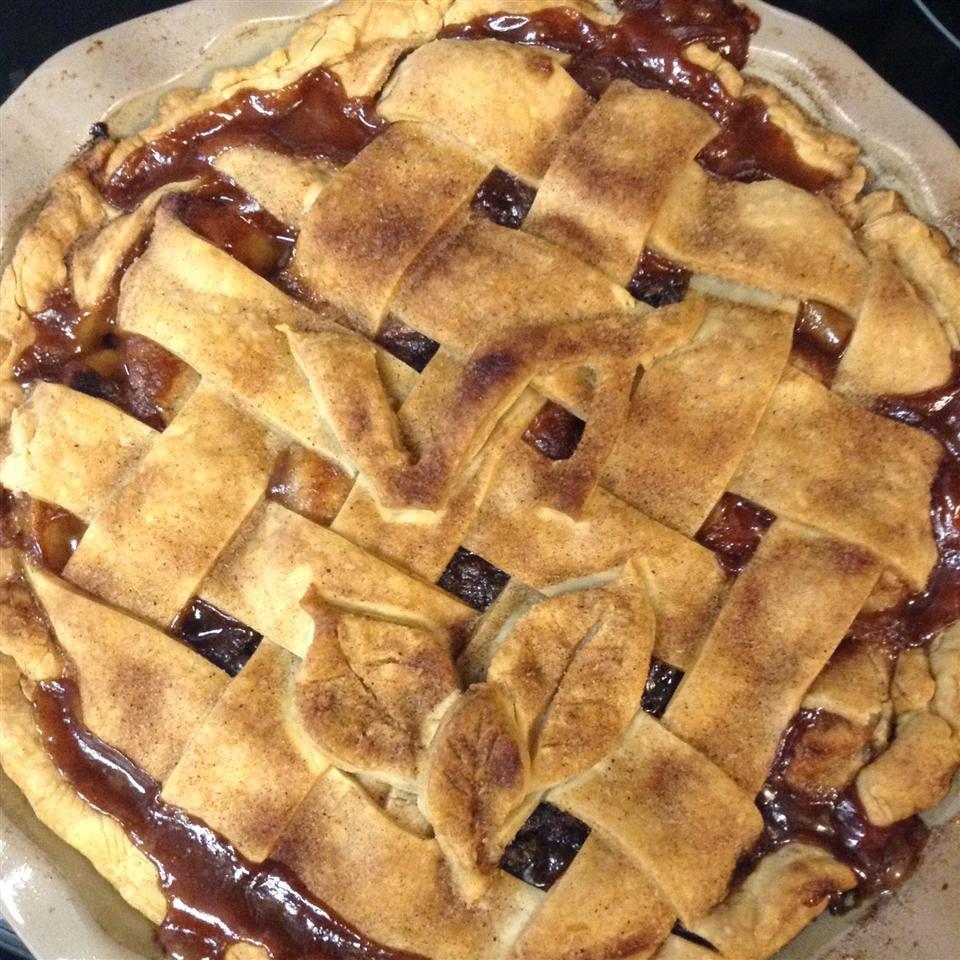Caramel Apple Cranberry Pie