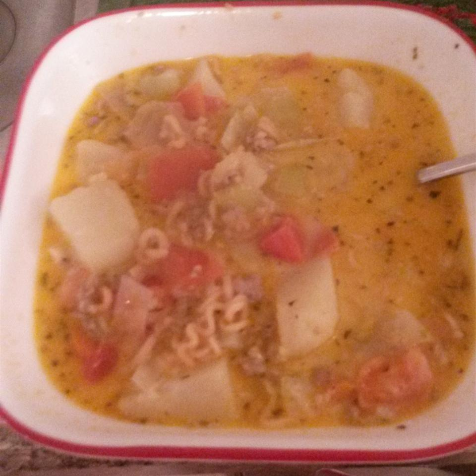 Spicy Veggie Cabbage Soup